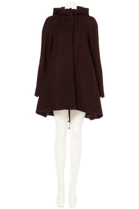 Burgundy Textured Parka New In This Week New In Topshop