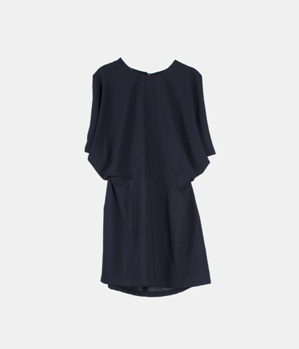 Arc Open Back Kimono Dress