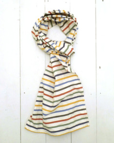 Small Multi Stripe Scarf by Nigel Cabourn available to buy at The Bureau Belfast