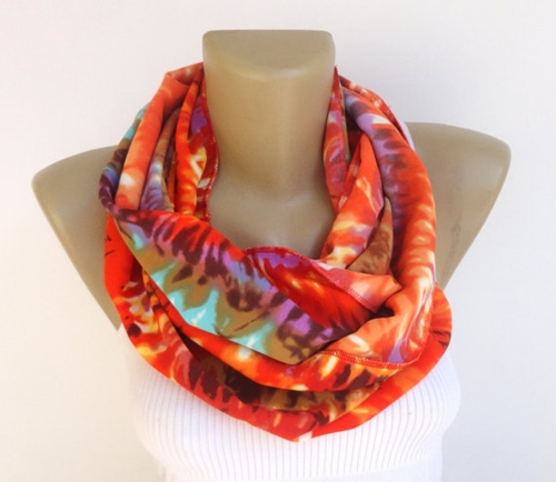 Spring Abstract Print Scarf Women Scarf Infinity By Senoaccessory