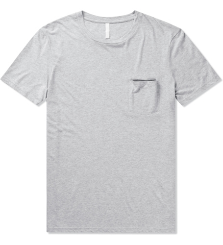 Munsoo Kwon Light Grey Melange Contrast Pocket T Shirt Hypebeast Store