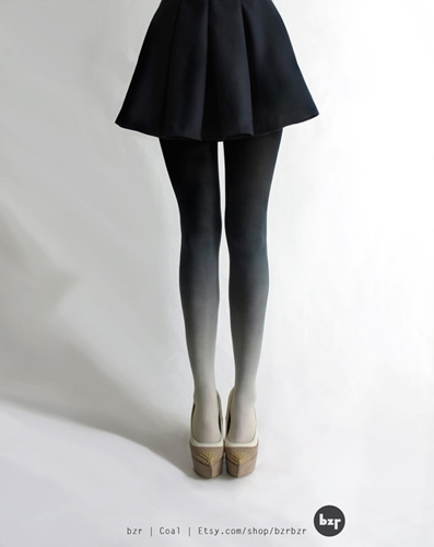 BZR Ombre tights in Coal by BZRshop on Etsy