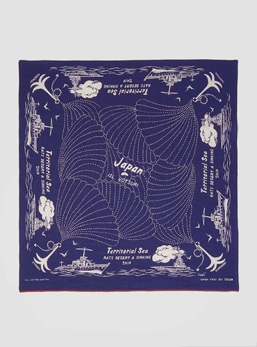 Couverture And The Garbstore Mens Kapital Fast Colour Selvedge Bandana