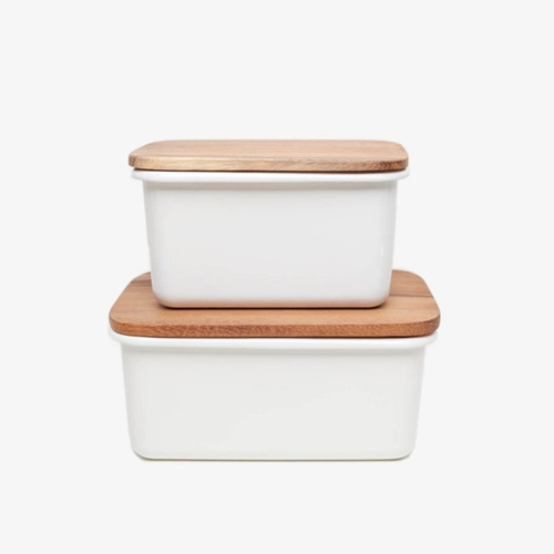 Enamel Storage Boxes Poketo