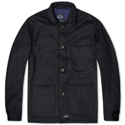 Bleu De Paname Wool Counter Jacket Black