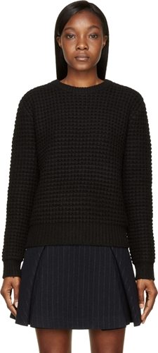Marc By Marc Jacobs Black Wool Walley Sweater Ssense
