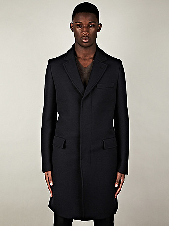 Maison Martin Margiela 14 Replica Formal Coat in navy at oki ni