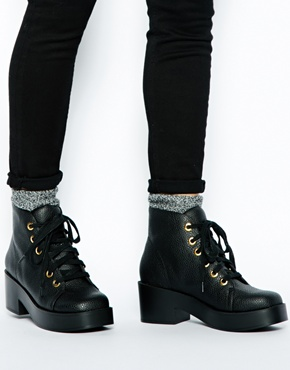 Asos Asos Rocket Lace Up Ankle Boots At Asos