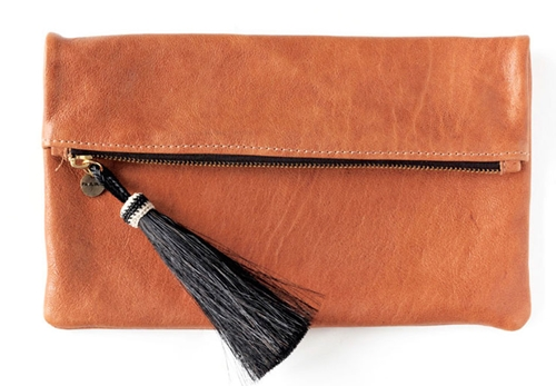 Paulina Barcelona Arizona leather clutch