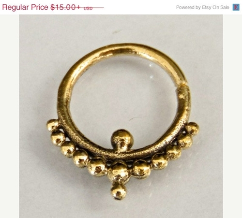 On Sale Oxidized Brass Septum For Pierced Nose Septum By Ronibiza