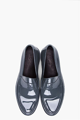 Yves Saint Laurent Grey Kennedy Show Loafers for men SSENSE