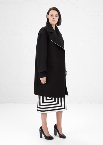 Totokaelo Dries Van Noten Black Wool Rhonda Coat
