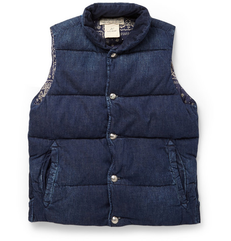 Remi Relief Quilted Washed Denim Gilet Mr Porter