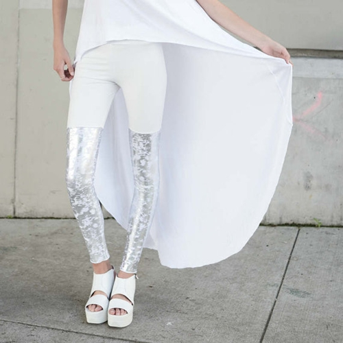 New Babooshka White Out Thigh High Legging By Babooshkaboutique
