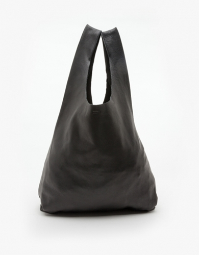 Leather Baggu In Black