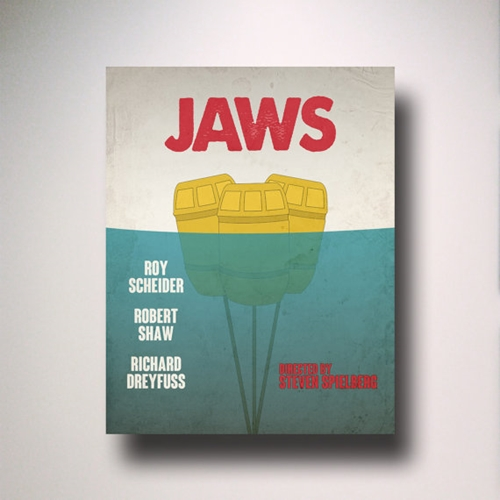 Jaws Inspired Minimalist Movie Poster Art By Entropytradingco