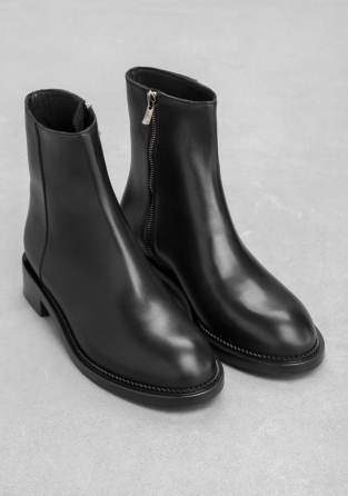 Other Stories Leather Ankle Boots