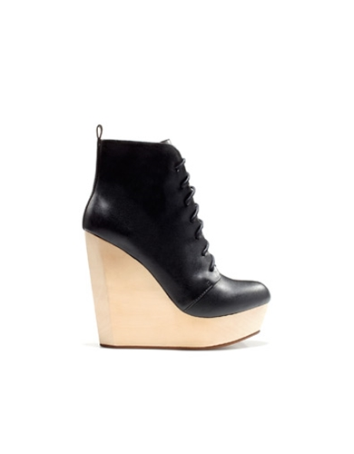 wooden wedge ankle boot shoes trf new collection zara nuji