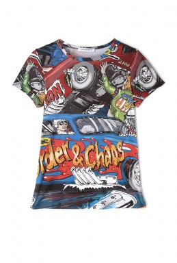 J.W. Anderson Cartoon Print T Shirt By J.W. Anderson
