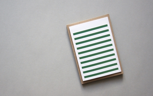 Stripetown Green Card Karte Design Fabrik