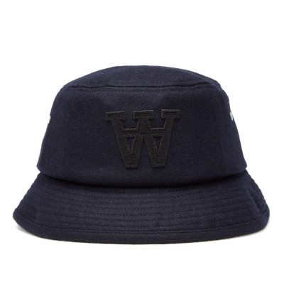 Wood Wood Logo Fishers Hat Dark Navy