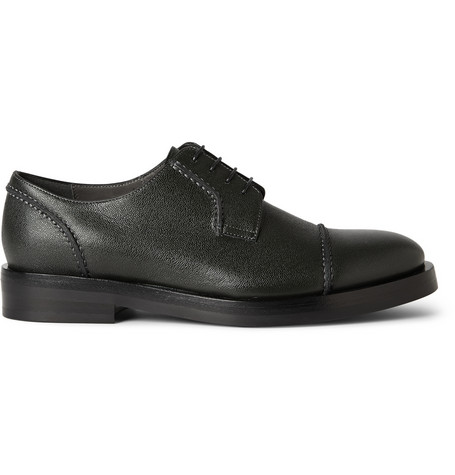 Lanvin Textured Leather Derby Shoes Mr Porter