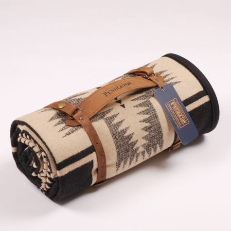 Pendleton Harding Blanket Black Tan