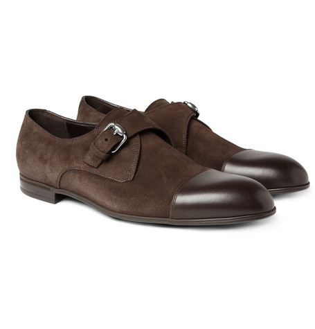 Gucci Suede And Leather Monk Shoe Mr Porter