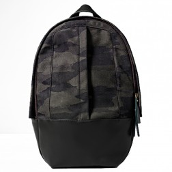 Arch Backpack Green Cotton Leather Cowhide