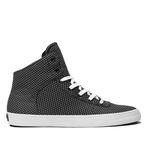 SUPRA CUTTLER POLKA Shoe BLACK POLKA DOT WHITE Official SUPRA Footwear Site