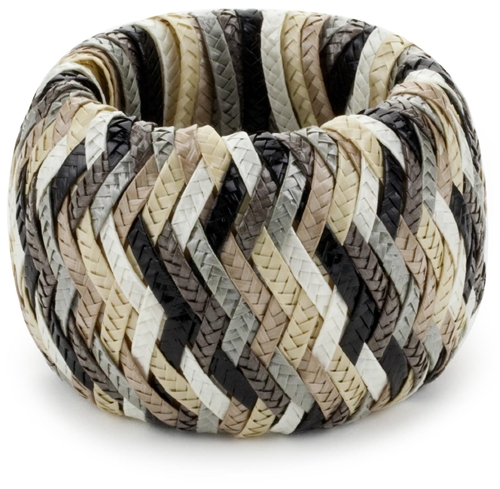 Marv Graff Seychelles Lacquered Raffia 2 5 Wide Braided Bangle Bracelet designer shoes handbags jewelry watches and fashion accessories endless com