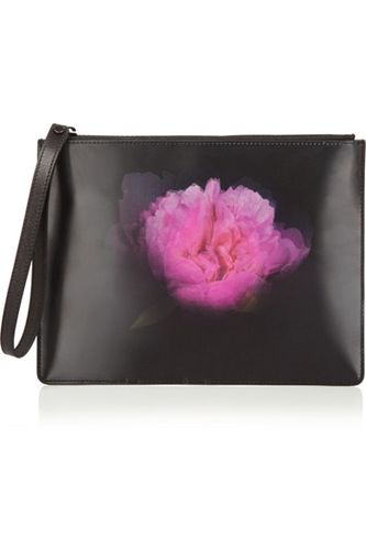 Christopher Kane Lenticular Leather And Holographic Clutch Net A Porter.Com