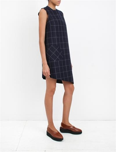 Jacquemus La Robe Carreaux Navy Check