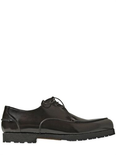 Lidfort Brushed Leather Derby Lace Up Shoes Luisaviaroma Luxury Shopping Worldwide Shipping Florence