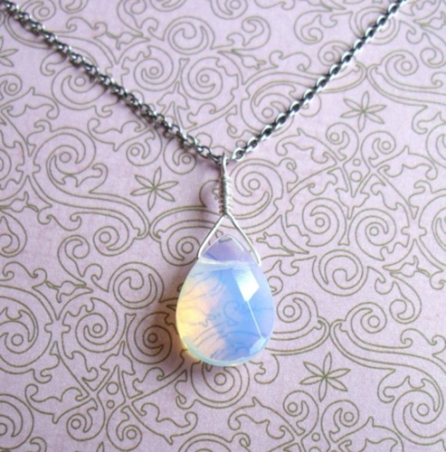 Sea Opalite Pendant By Jeweljunke On Etsy