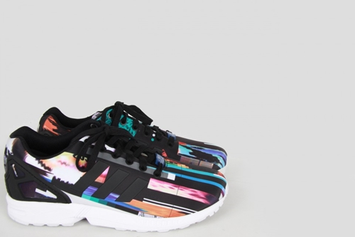 Adidas Originals By Originals Zx Flux Photo Print Digital Baskets Chaussures