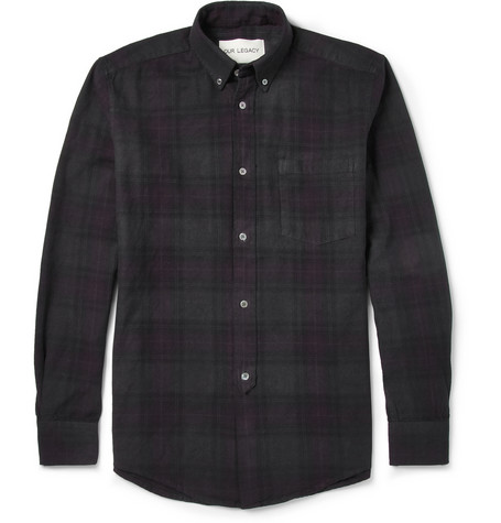 Our Legacy Overdyed Check Cotton Shirt Mr Porter