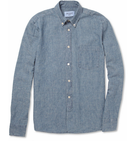 Our Legacy Button Down Hemp Blend Chambray Shirt MR PORTER