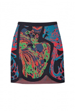 M Missoni Multi Coloured Jacquard Skirt By M Missoni