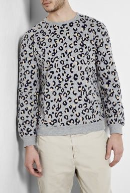 A P C Leopard Print Sweat by A P C