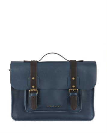 Leather satchel SKOLDAY by Ted Baker