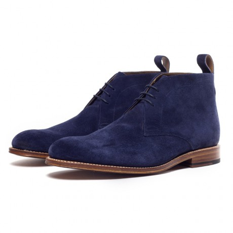 Grenson Blue Suede Marcus Chukka Boots