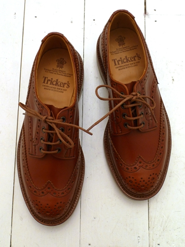 Marron Antique Bourton Derby Brogue by Tricker s available to buy at The Bureau Belfast