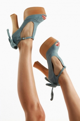wildfox x jeffrey campbell dallas platform shoes denim wildfox couture 80 s Purple