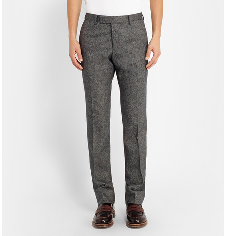 Billy Reid Slim Fit Wool And Cashmere Blend Tweed Trousers Mr Porter