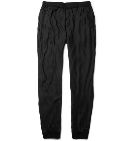 Lanvin Silk Chiffon and Cotton Blend Sweatpants MR PORTER
