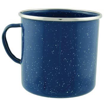 Amazon.Com 24Oz Camping Enamel Mug Cup With Stainless Steel Rim Kitchen Dining