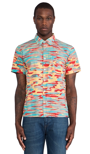 Levi's Made Crafted Hawaiian Shirt In Multi Waves Revolve