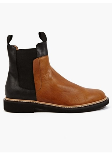 22 Men's Contrasting Vegetable Tanned Leather Boots