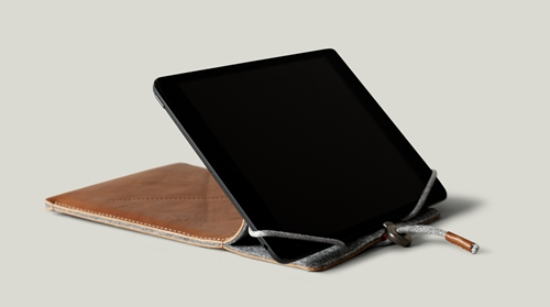 Hard Graft Leather Ipad Air Or Ipad Mini Case With Draw String Closure. Handmade In Italy. Hard Graft